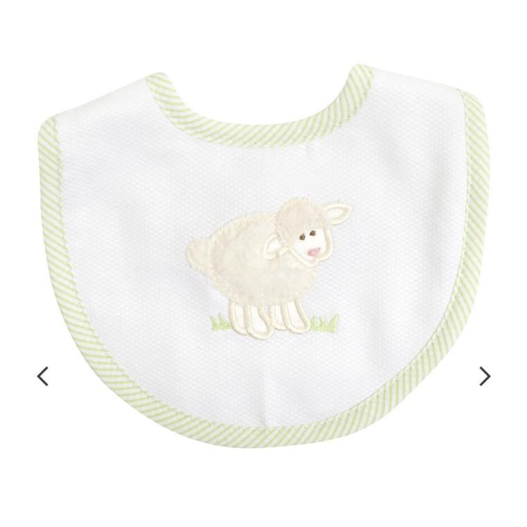 3 Marthas White Lamb Bib