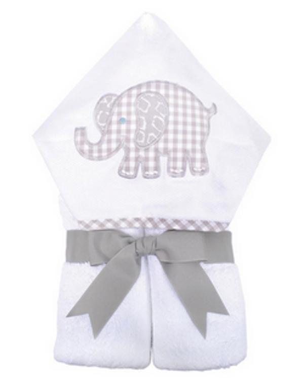 3 Marthas Gray Elephant Towel