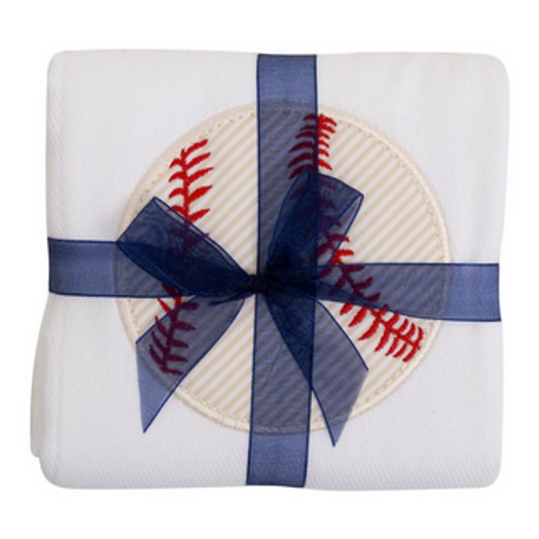 3 Marthas Baseball Burp Cloth