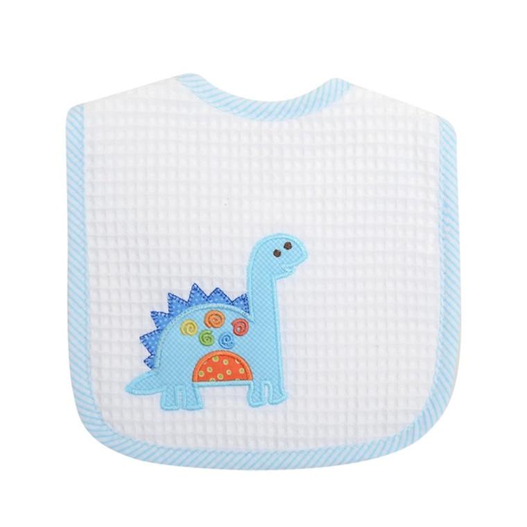 3 Marthas Blue Dinosaur Bib