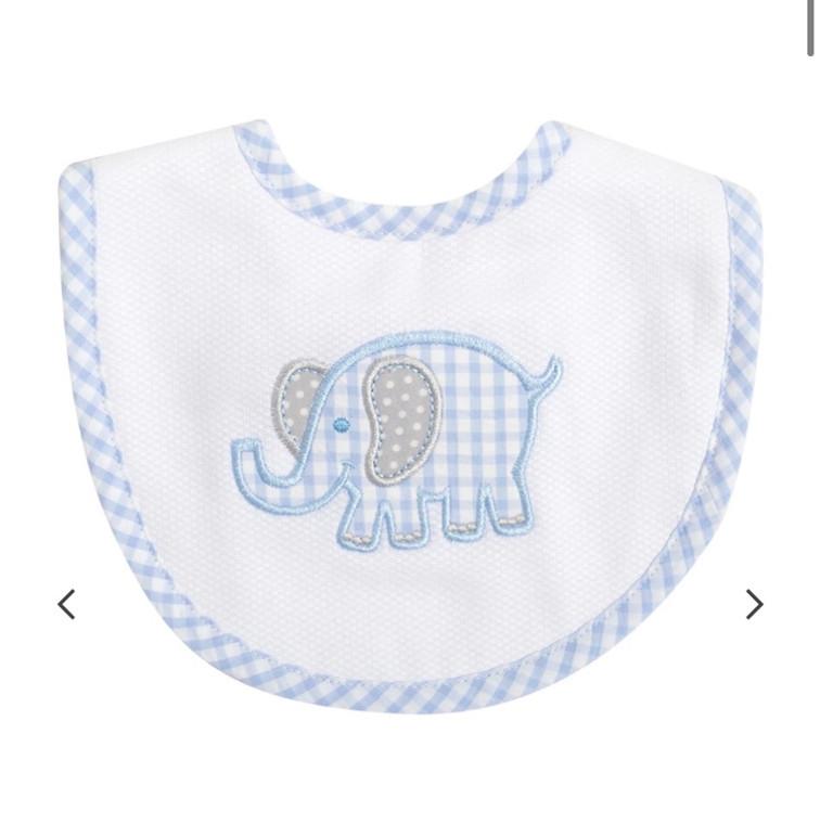 3 Marthas Blue Elephant Bib