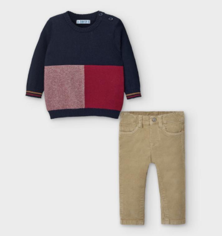 Mayoral Sweater/Corduroy Set