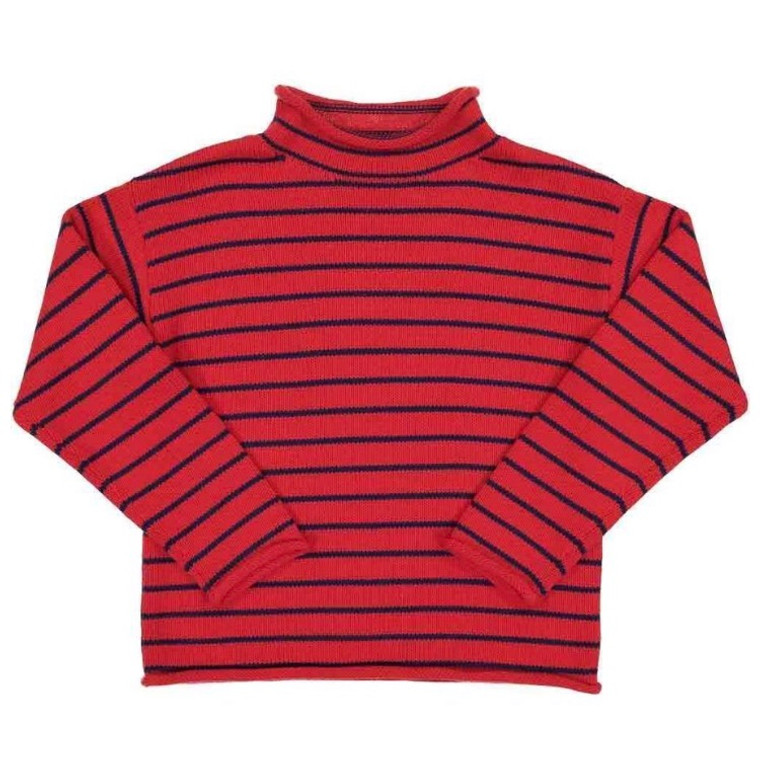 CPC Fraser Red Roll Neck Sweater