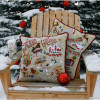 Night Before Christmas Hand Embroidered Pillow