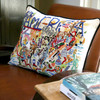 United States Geography Embroidered Pillows