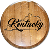 """State Outline with """"Kentucky"""""""