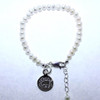 Pearl Baby Bracelet W/ Engraved Disc
