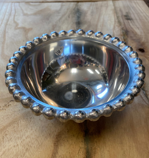 Silver Beaded Small Bowl