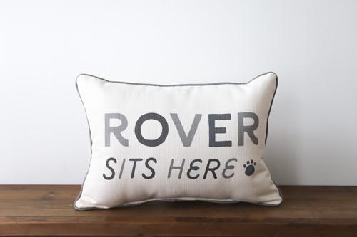 Custom Pet Name Pillow
