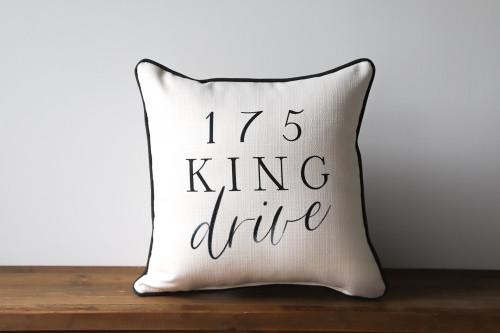 Custom Family Address Pillow