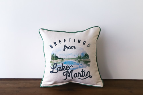 Greetings from Our Lake Pillow