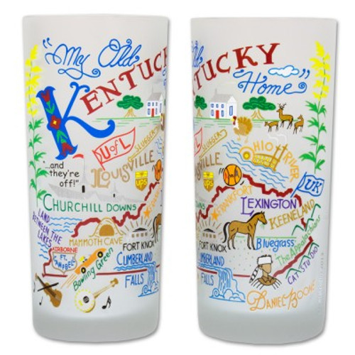 Kentucky Frosted Glass