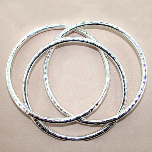 Hammered Slip-on Bangle