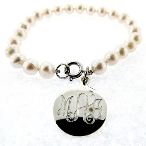 pearl bracelet engrave