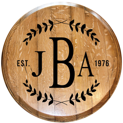 Monogrammed Barrel Head w/ Year