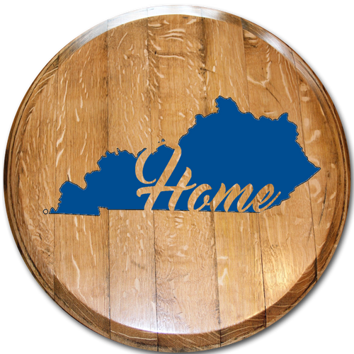 State with home inside blue