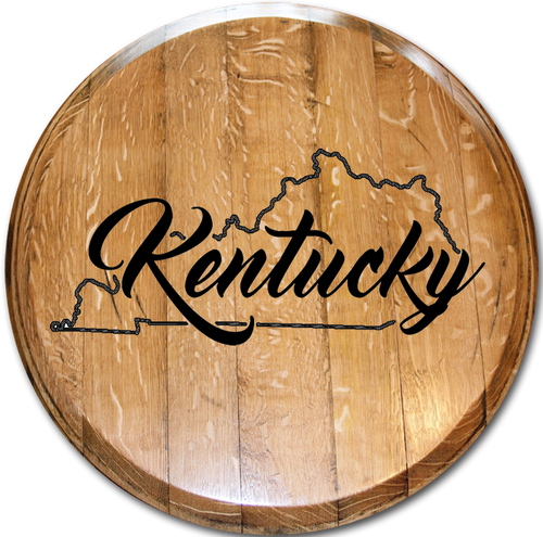 "State Outline with ""Kentucky"""