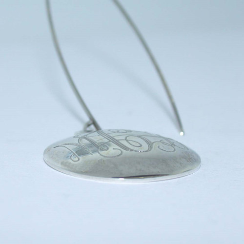 Engraved Round Dome Earrings