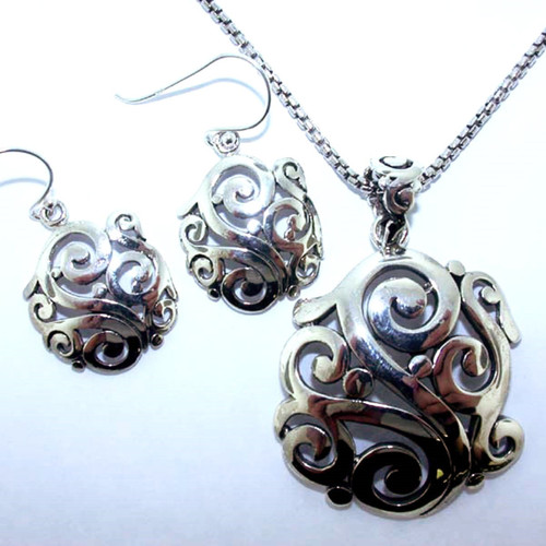 Southern Gate Pendant and Earring Set