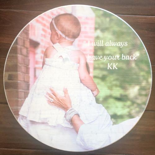 Custom photo round sign, wedding gift, family gift, photo sign