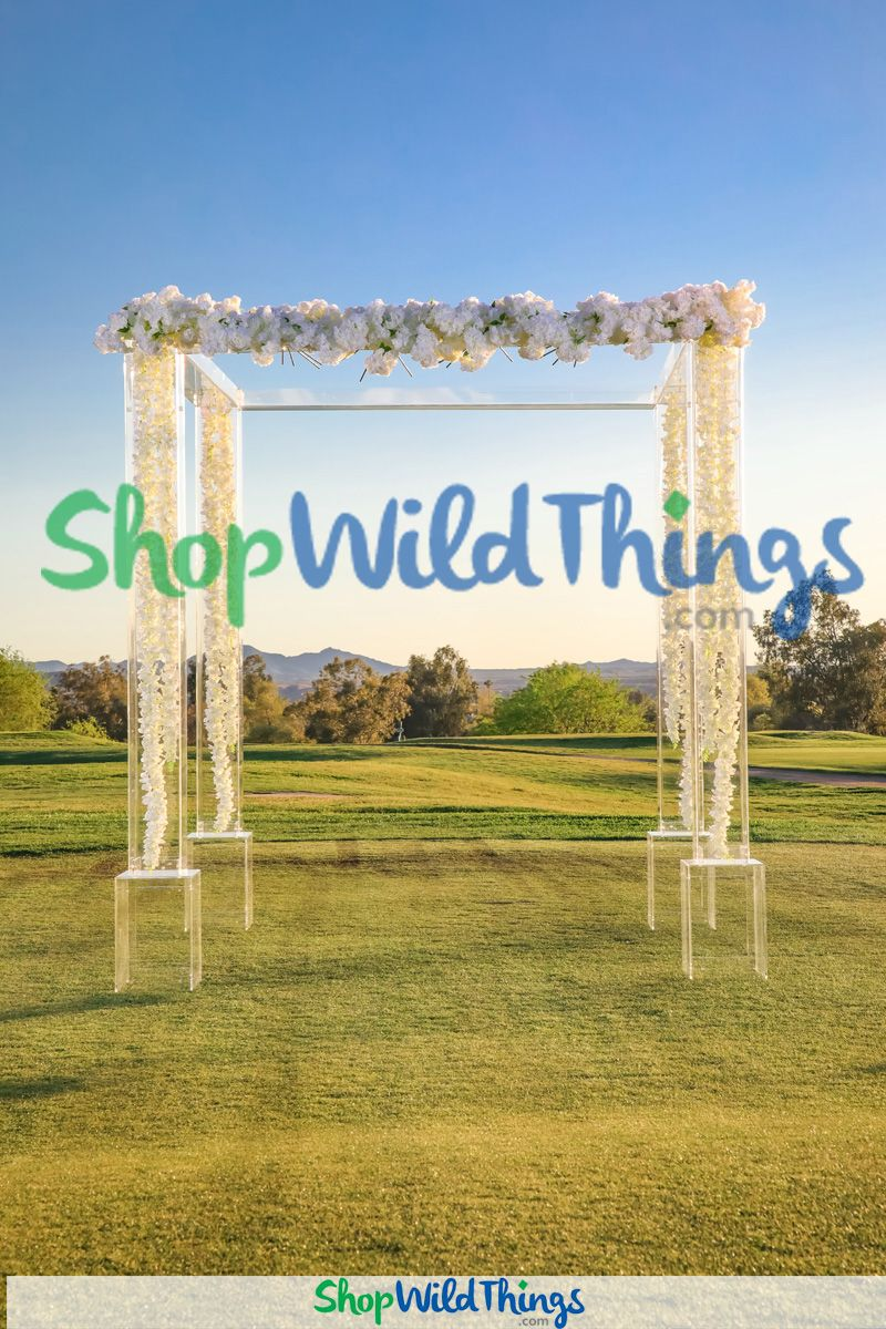 Acrylic Arches and Gazebos Create Modern Ceremony Spaces Anywhere