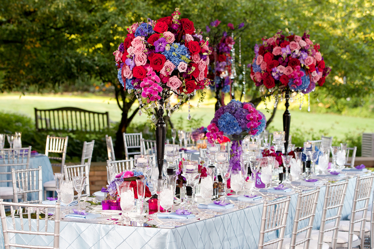 Centerpiece Roundup:  Crystal Bead Strands Add Sparkle to Wedding Centerpieces