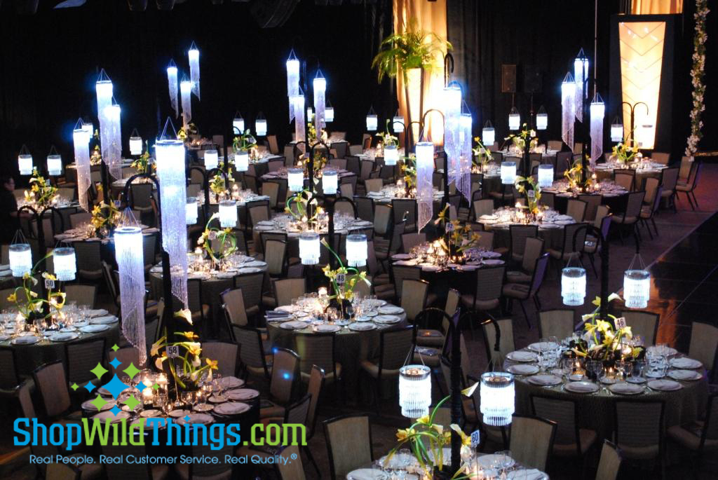Chandeliers & LED Saucers!