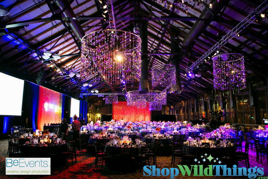 Confetti Curtains - Made into Huge Columns!