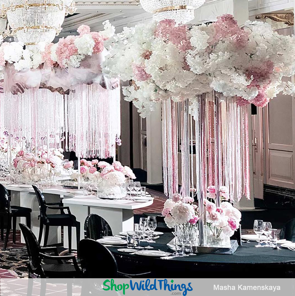 Crystal Candelabras and a Floral Bridge Anchor a Jaw-Dropping Luxury Wedding