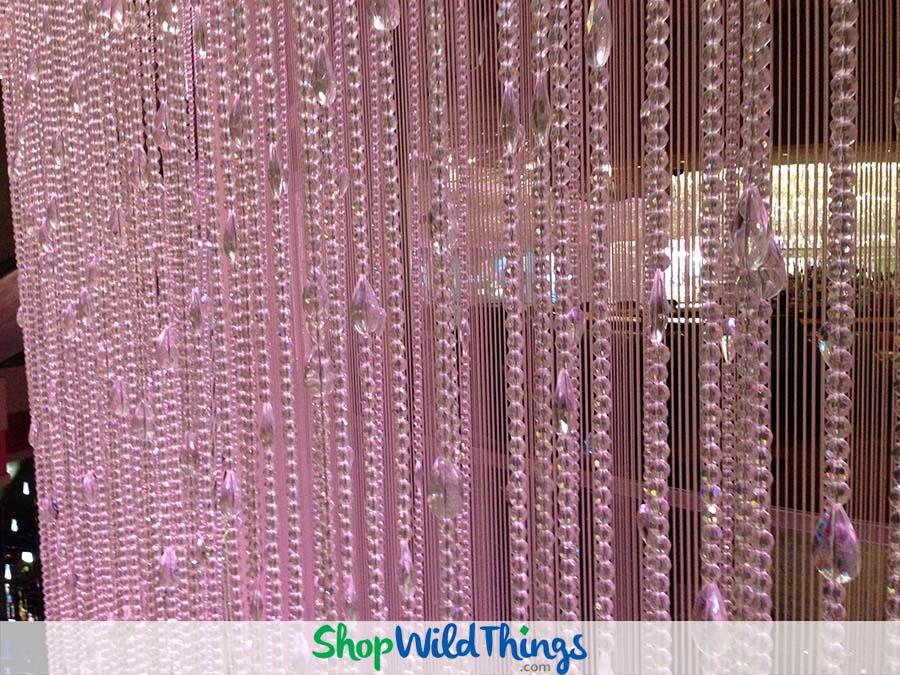 Crystal Columns, Beaded Curtains & Crystal Ceiling Drapes = Las Vegas Fabulousness!