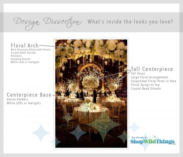 Crystal-Studded Wedding Reception Decor