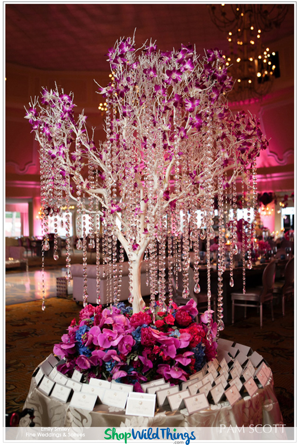 How to Decorate a Luxury Beach Wedding with Crystals & Chandeliers