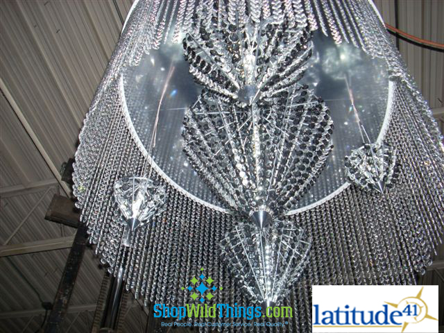 Latitude 41 Creative - Custom Light Fixture Using Beads