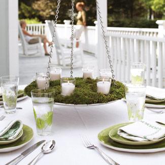 Moss Rolls, Moss Pad Decor Ideas - Reception Table