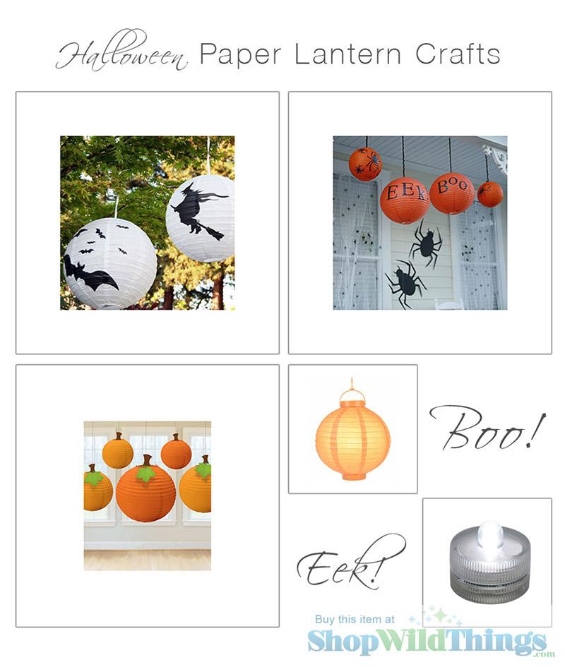 Paper Lanterns make DIY Halloween Decor a Snap!