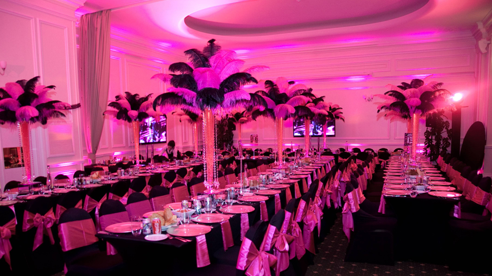 Recipe for Successful Centerpieces|Ostrich Feathers and LED Lights