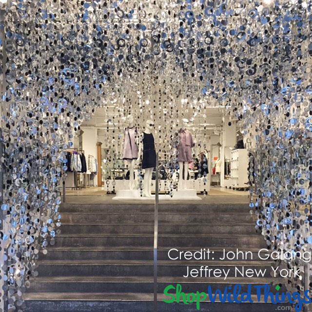 Retail Store Display - Jeffery New York - PVC Beaded Curtains