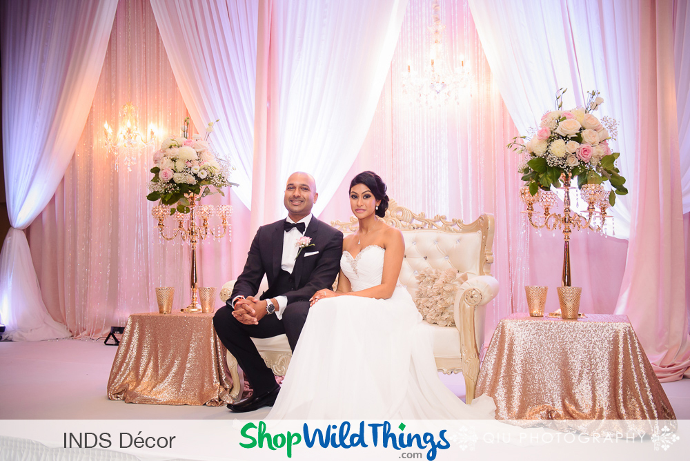South Asian Weddings - Bling Therapy for the Elegant Event: Bead Curtains, Chandeliers & Beaded Accessories