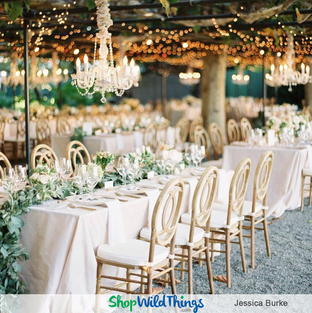 Standout Event Starters:  Create Memorable Entrances and Receptions with Chandeliers and Accessories