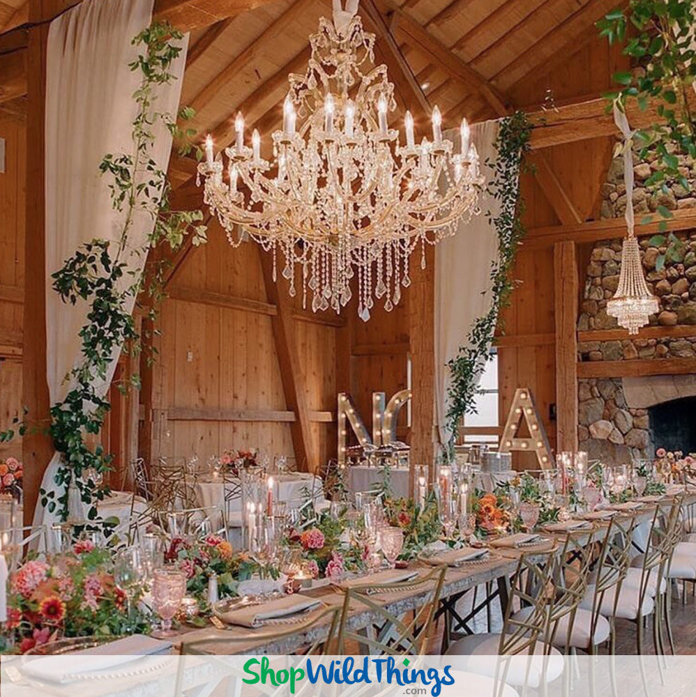 Supreme Elegance in A Variety of Settings:  Just Add Chandeliers