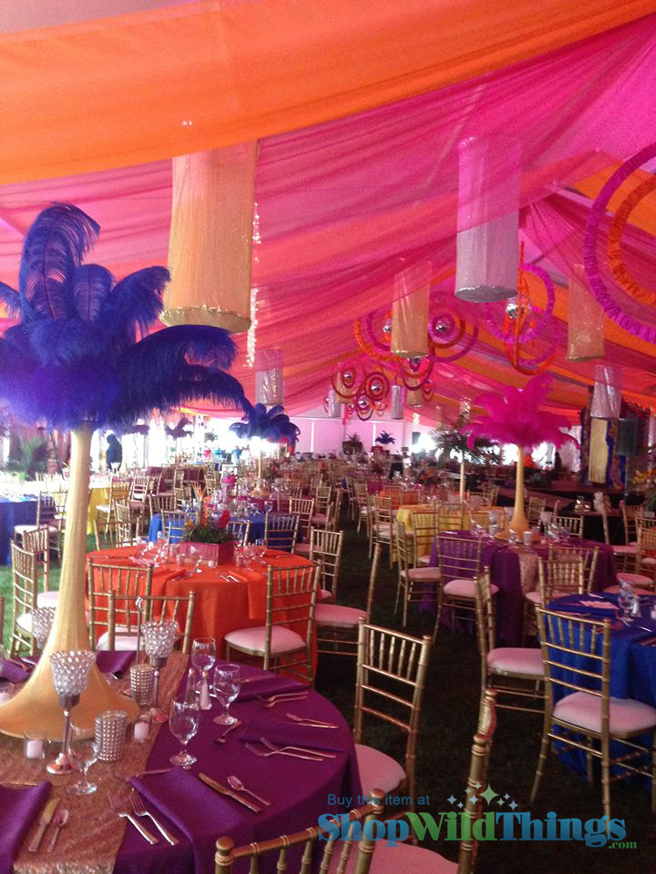 Total Tent Transformation - How One Designer Uses Beads, Lighting and Feathers to Bring Brazil Home