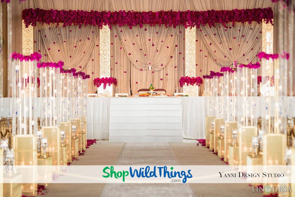 Using Riser Stands for Centerpieces, Floor Designs and Aisle Decor