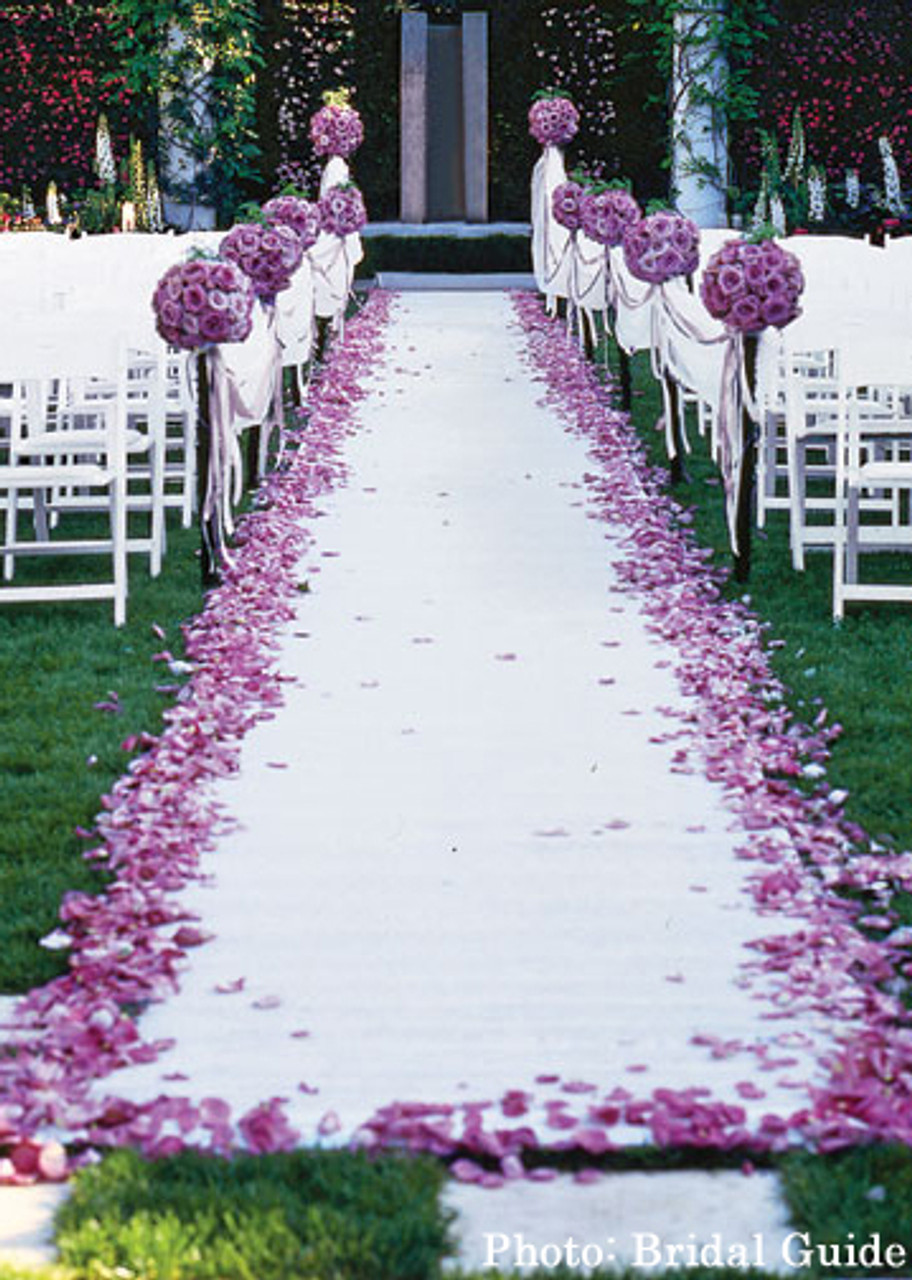 Wedding Accessories Fabric Aisle Runner Two Shall Become One 100 Feet Long
