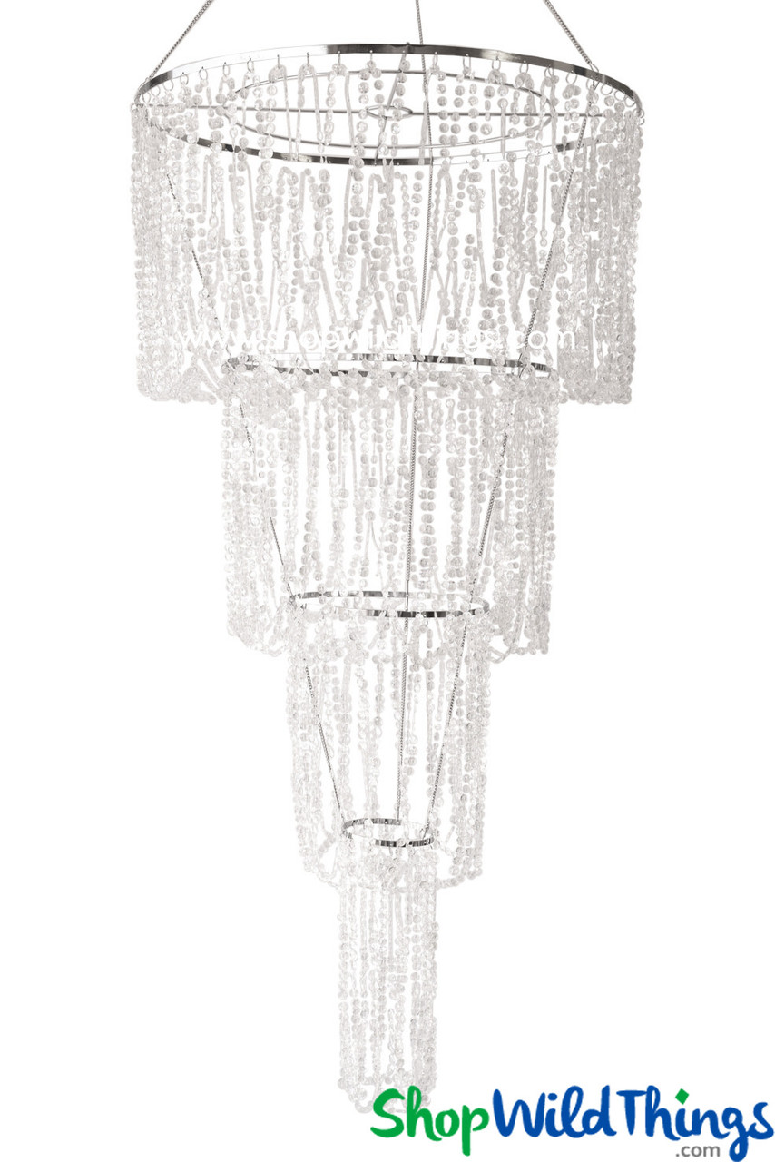 Chandelier Arianna Swag Iridescent Crystal Beads Shopwildthings Com