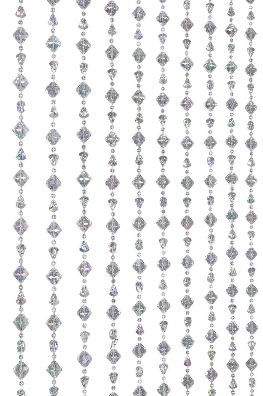 Crystal Iridescent Gemstone Beaded Jewel Curtain Shopwildthings Com