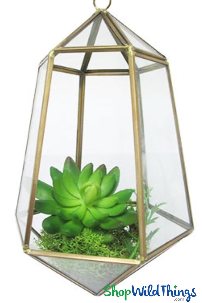 Hanging Geo Terrariums Make Elegant Candle Holders Decorative Vases Shopwildthings Com