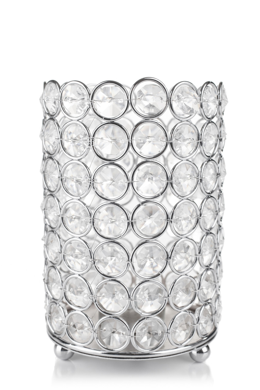 MORE COLORS AVAILABLE SILVER BEADED VOTIVE CANDLE HOLDER