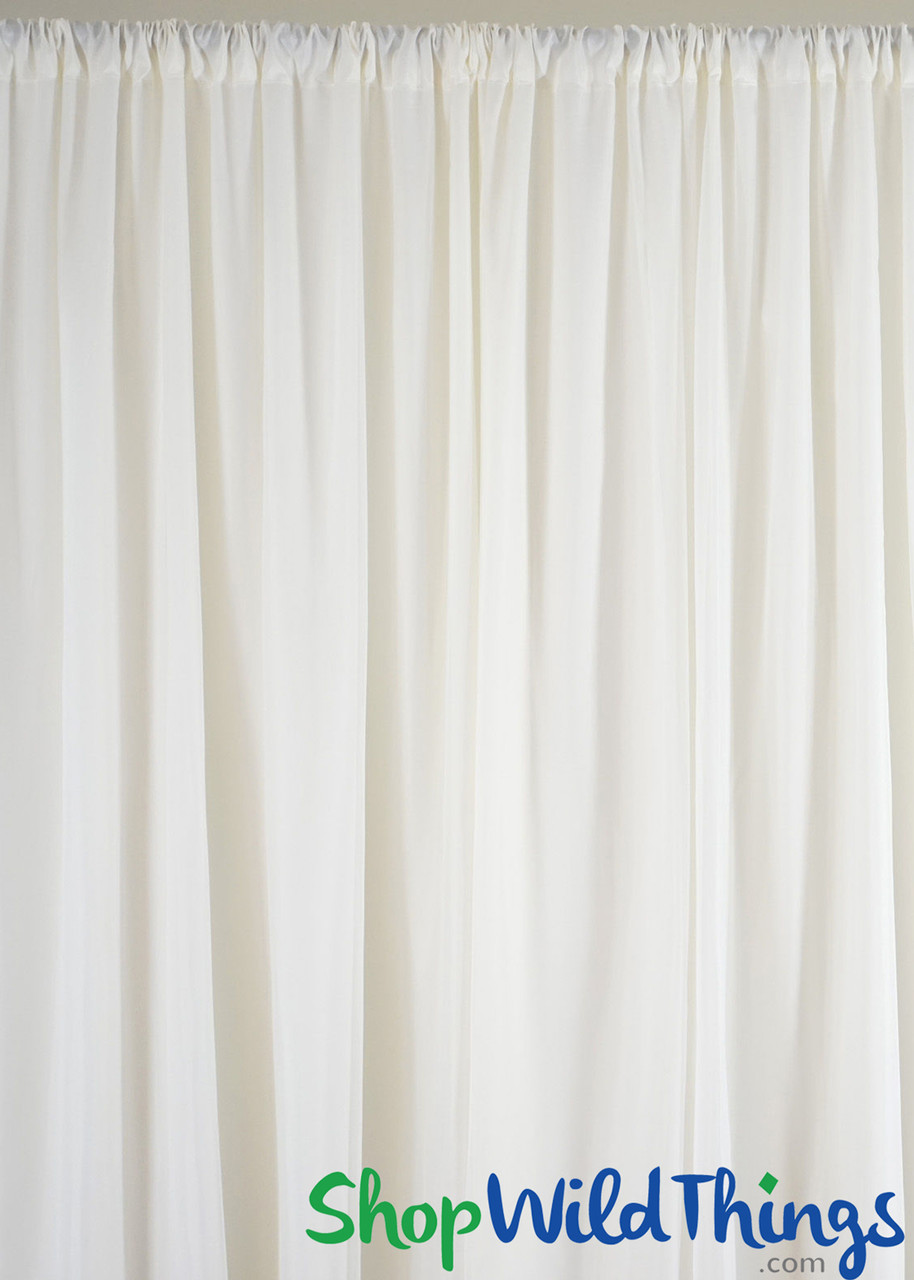 Sheer Curtain Panels Flame Resistant Fabric Backdrops Shopwildthings Com