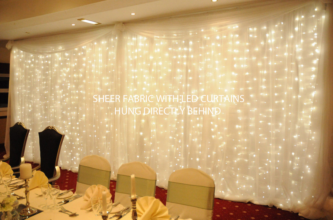 Sheer White Wedding Backdrop 10 Tall By 10 Wide Shopwildthings Com