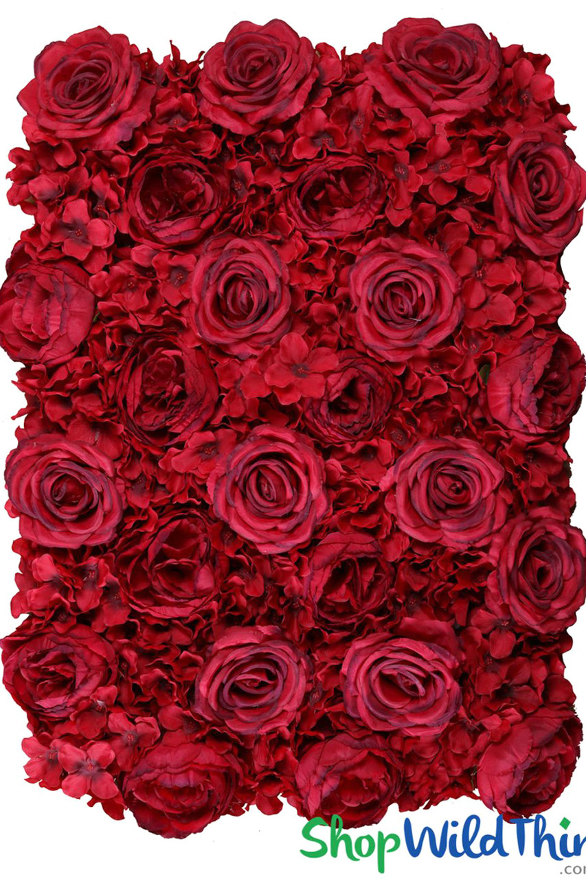 Red Flower Wall Backdrop Snap Together Panels Shopwildthings Com